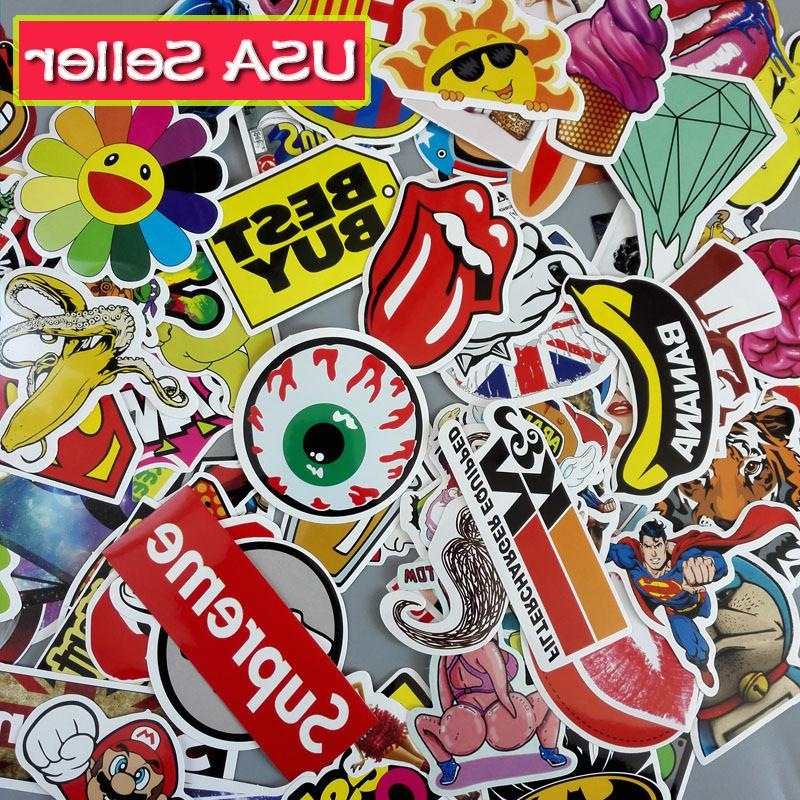 Lot 100 Laptop Stickers bomb Luggage Decals Dope Sticker