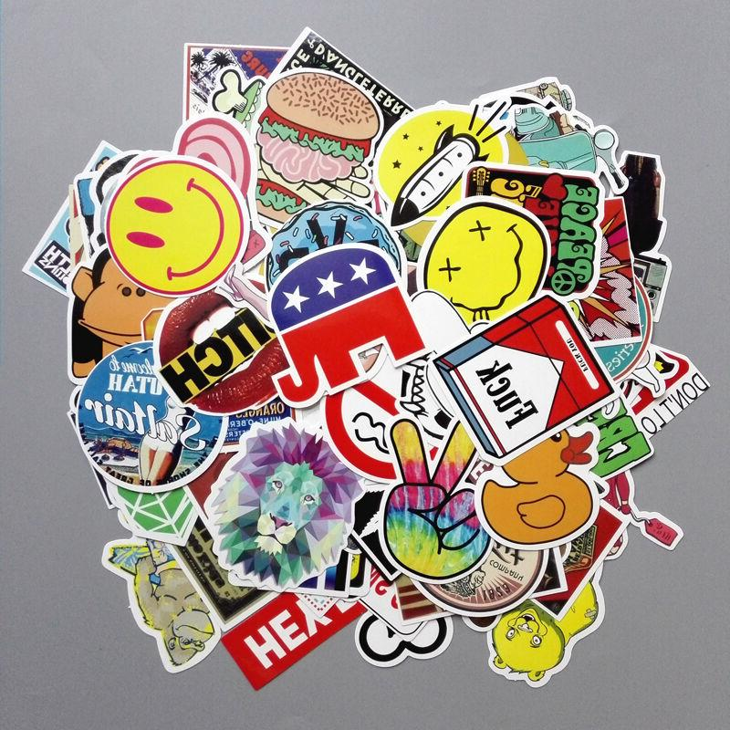 Lot Random Vinyl Laptop Skateboard Stickers Luggage Decals