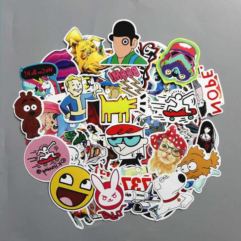 Lot Random Vinyl Laptop Skateboard Stickers Luggage Decals