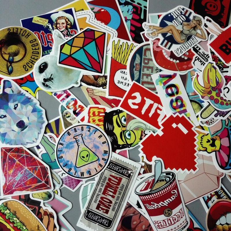 Lot 200 Random Laptop Stickers Luggage Decals