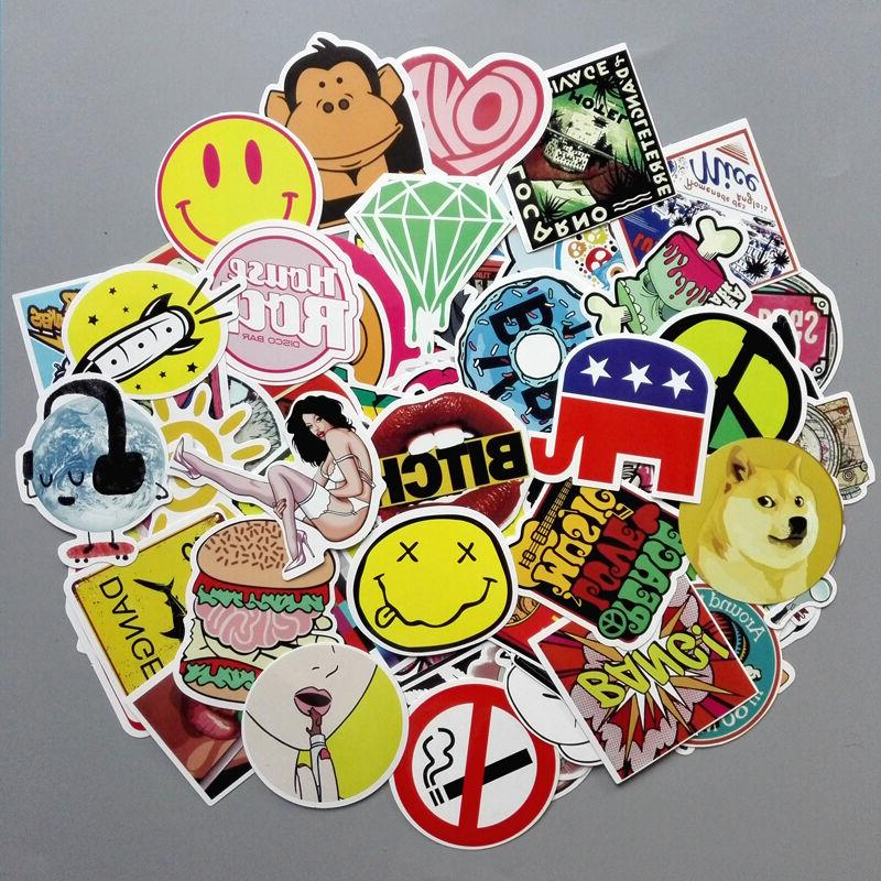 Lot 100 Random Laptop Skateboard Stickers bomb Luggage