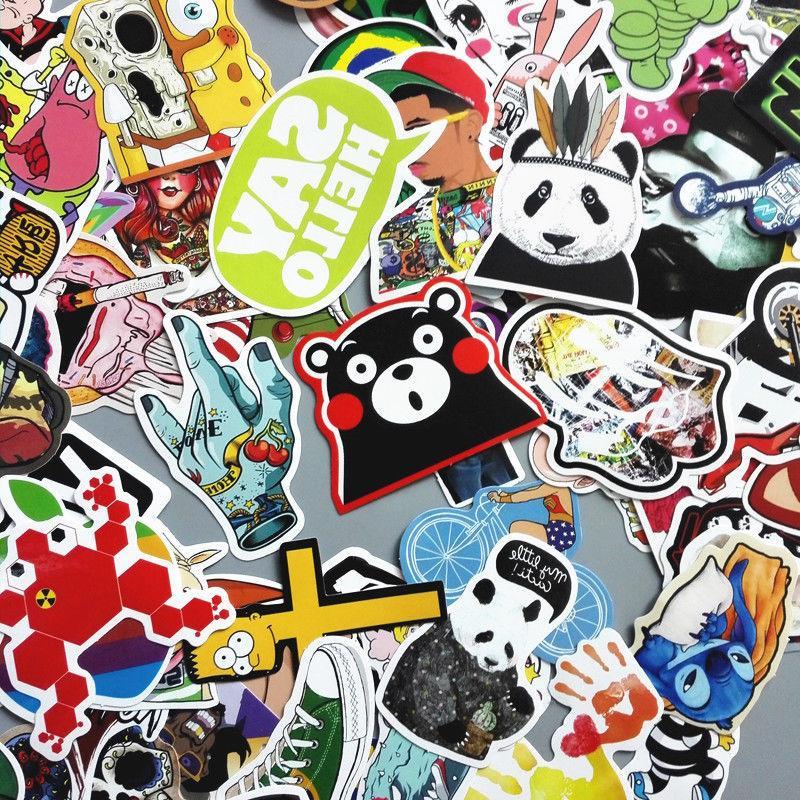 Lot 200 Random Vinyl Laptop Stickers Luggage Decals Dope