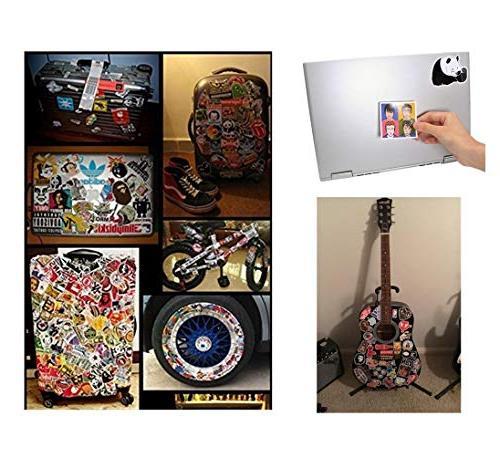 NAVAdeal 57pcs Rock Punk Music Band Laptop Stickers, Guitar, Computer Adults Teens, Gift for Kids, No Duplicate