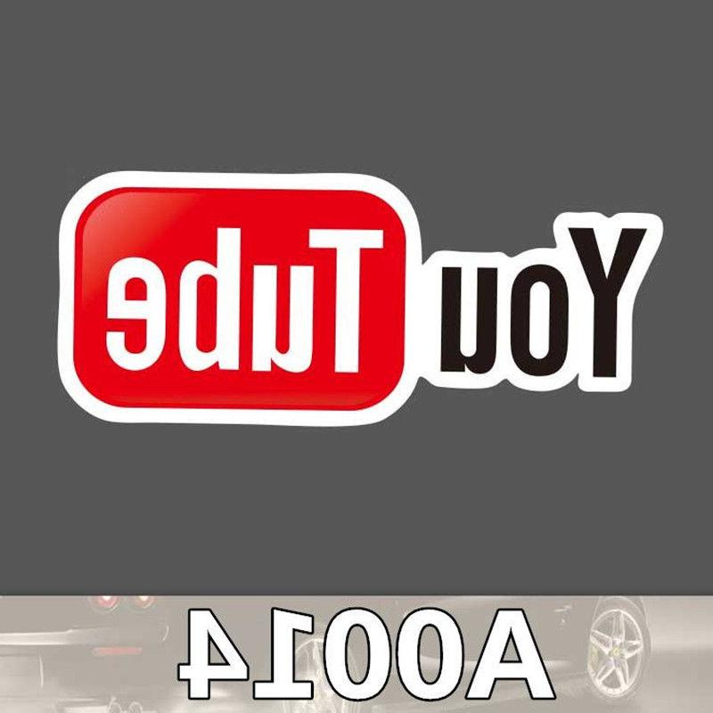 NEW YouTube Media logo Cool Sticker for Car Laptop Luggage S