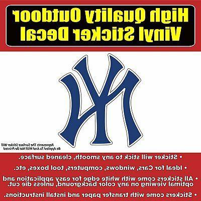 New York Yankees, yankee, Vinyl Car Window Laptop Bumper Sti