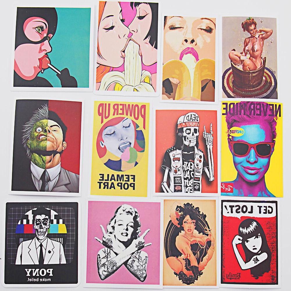 Pack of Stickers Vintage Vinyl Luggage Decals Sticker