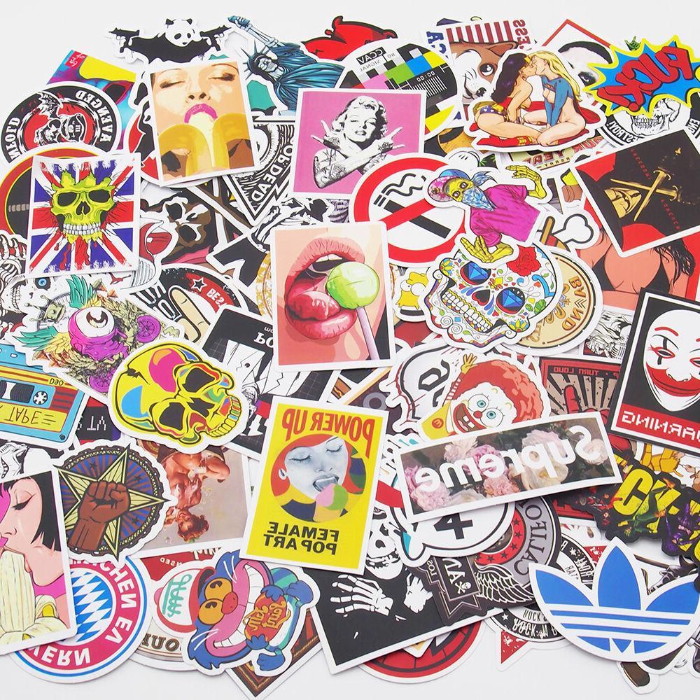 pack of 100 skateboard stickers vintage vinyl