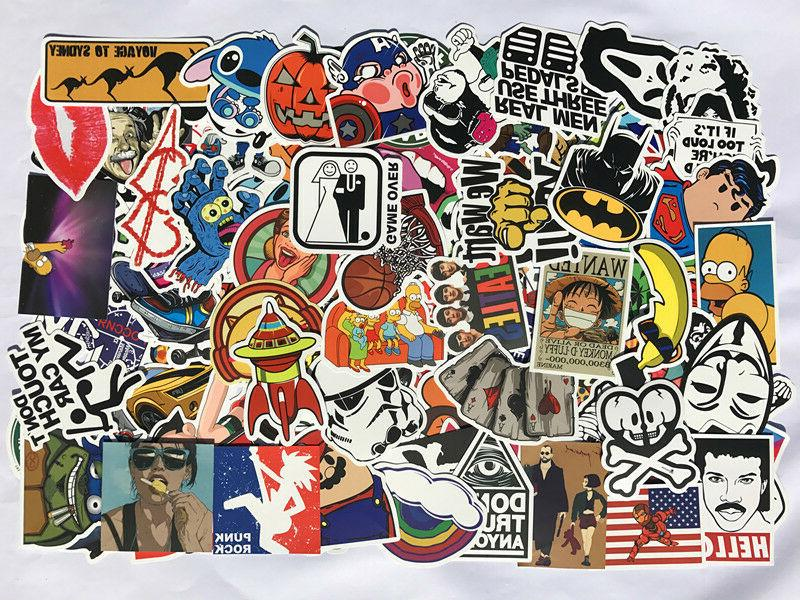 Pack of 100, 200, 300, 500 Random Skateboard Notebook Laptop