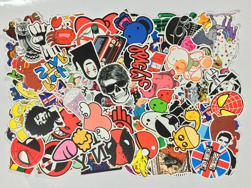 Pack of 50 Random Skateboard Notebook Laptop Vinyl Glossy St