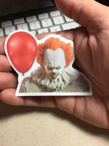 Pennywise Creepy Clown of IT Movie 2017 Laptop Sticker