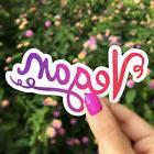 Pink Vegan Sticker, Vinyl Waterproof Sticker, Decal, Car Sti