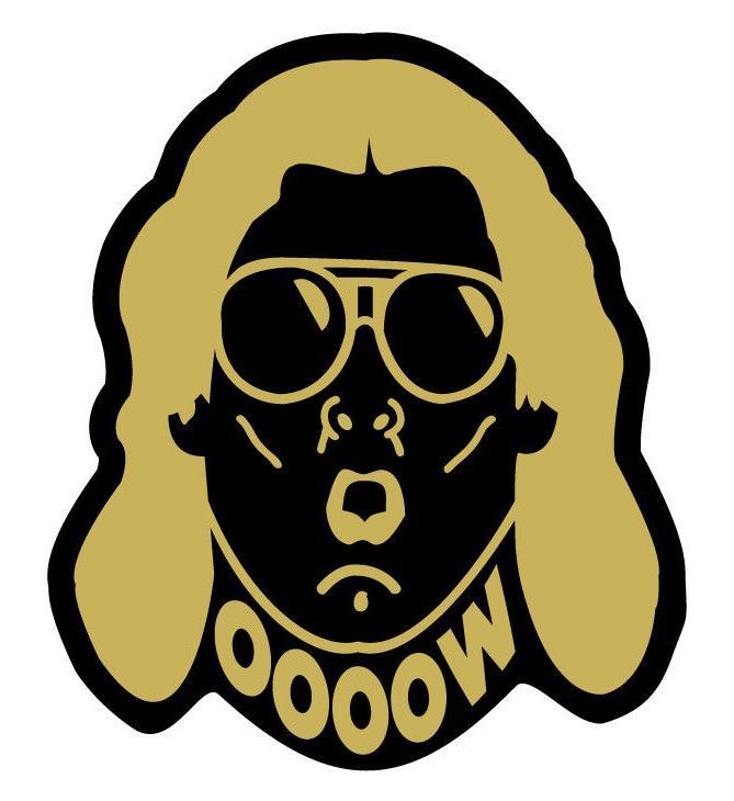 Ric Flair Gold Vinyl Decal WWE WOOO Car, truck, laptop Stick