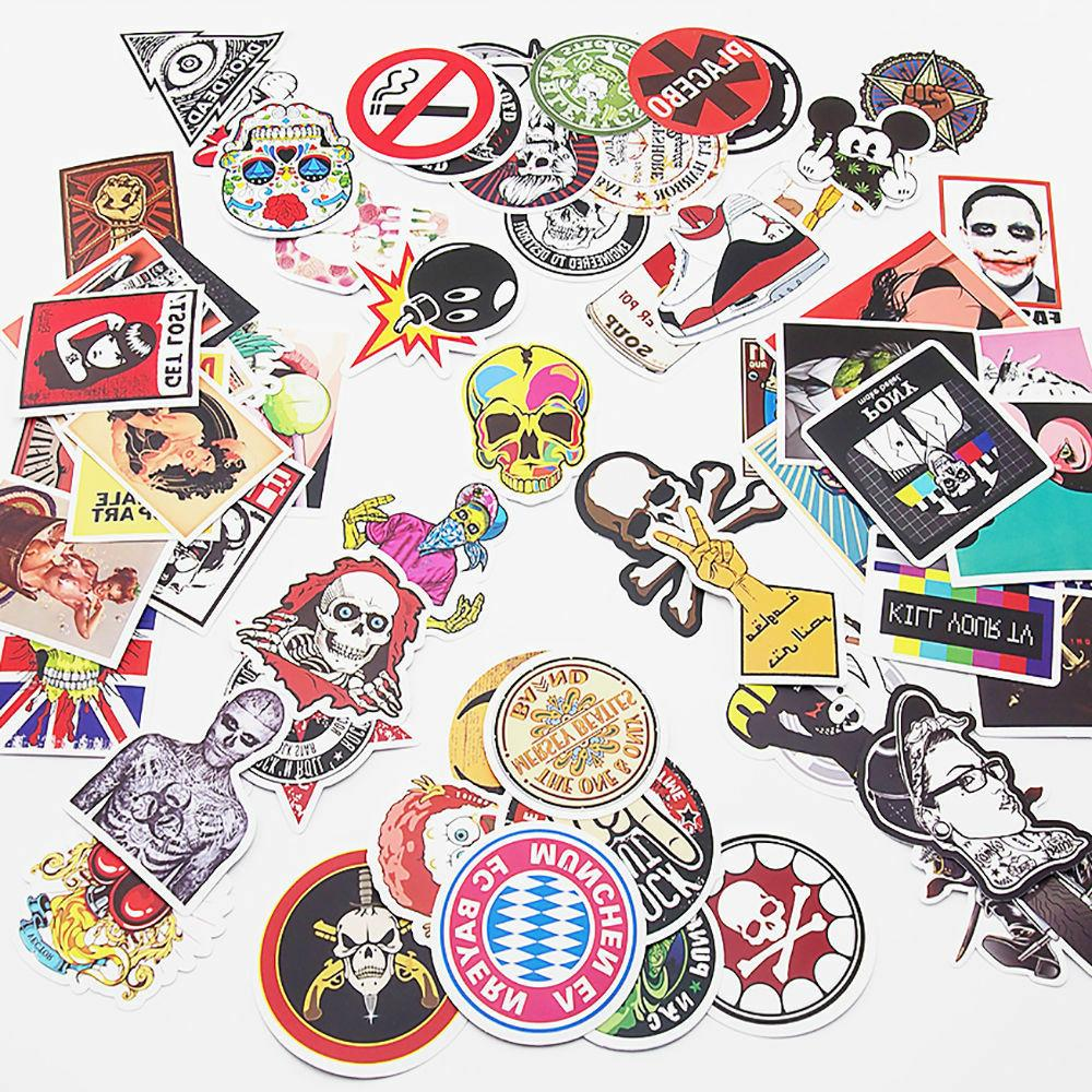 Skateboard Stickers Laptop Luggage Sticker of 100
