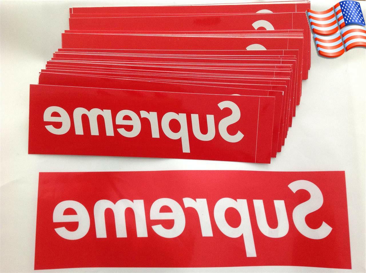 US Big Size Supreme Box Logo Red Sticker Vinyl Decal Skatebo