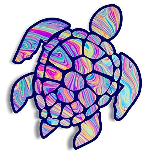 Vinyl Junkie Graphics 3 Inch Sea Turtle Sticker