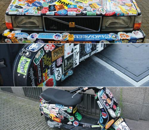 5Pcs/Lot Vinyl Skateboard Luggage Phone Guitar
