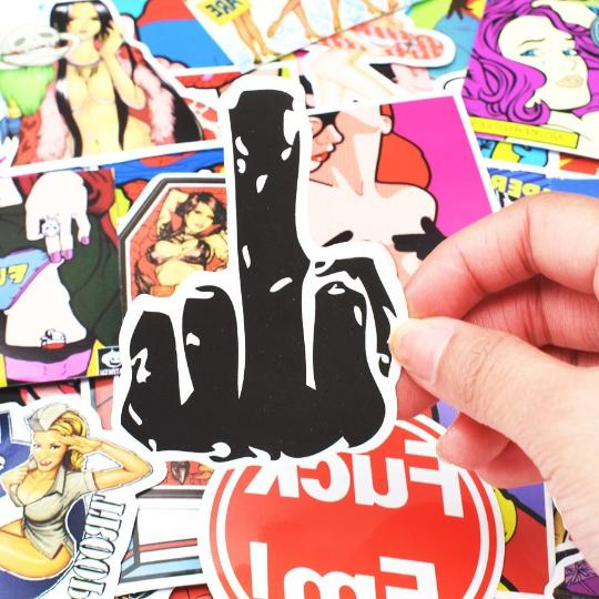 50 Adult Sticker Bomb Nude Decal Water
