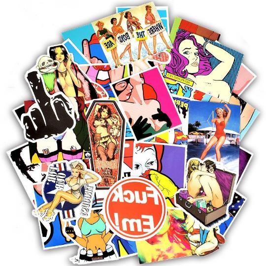 adult theme sticker pack bomb lot girls