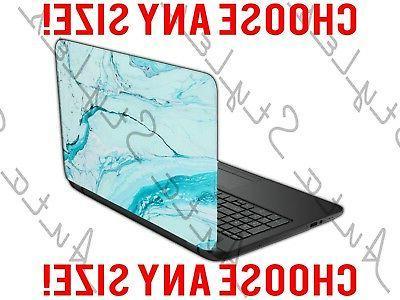 Aquamarine Soapy Agate Rock Crystal Laptop Skin Vinyl Decal