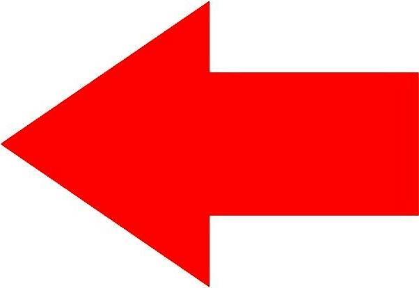 arrow shape vinyl decal car bumper sticker