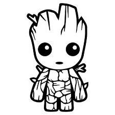 baby groot vinyl decal sticker