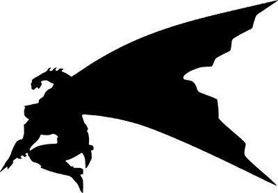 batman silhouette dc comics decal wall car