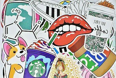 big 50 cute teen girl stickers pack
