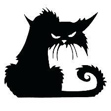 Black Cat Decal Cartoon Vinyl Sticker Macbook Laptop Car Win