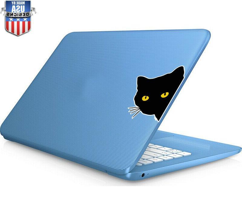 Black Cat Sticker Decal Laptop Car Vinyl 30279