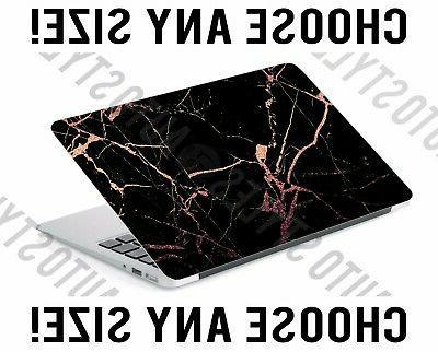 black rose gold marble laptop skin decal