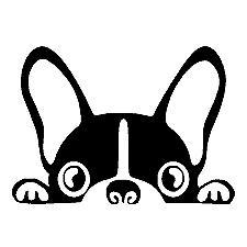 Boston Terrier Dog Vinyl Decal Laptop Sticker Car Window Wal
