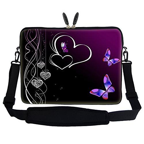 butterfly heart laptop sleeve bag