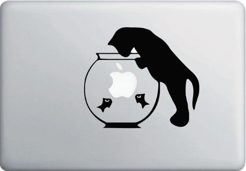 cat fishbowl decal vinyl sticker