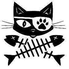 Cat Pirate Decal Vinyl Sticker Laptop Car Window CHOOSE COLO