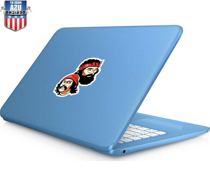 Cheech Chong Fun Decal Laptop Window Art Vinyl