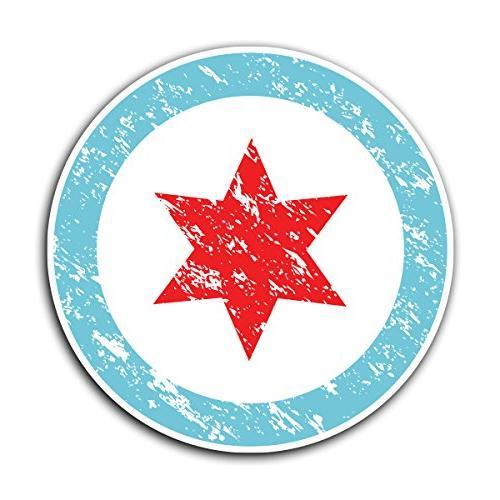 chicago flag circle