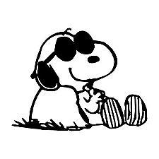 Chillin Snoopy Sticker Decal Cartoon Vinyl Sticker Laptop Ca