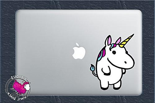 colorful fat cute unicorn decal