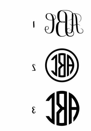 custom monogramed personalized 3 vinyl decal sticker