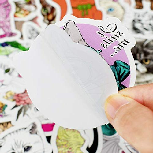 Cute Cat Sticker Sheet 50-Piece Vinyl