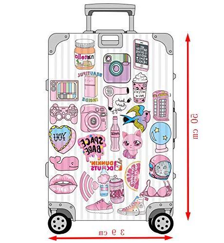Floranea Pcs Girl Stickers Pink for Laptop Phone Bottles Bike Journal