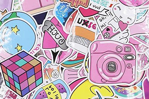 Floranea Pcs Girl Lovely Pink for Kid Teen Phone Bottles Journal