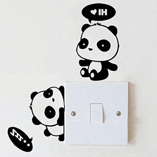 "Cute Sleeping Dreaming Hi,Panda Hello - Air 11"" 13"" MacBook 13"" 15"" 17"" Vinyl Decal Sticker 3"