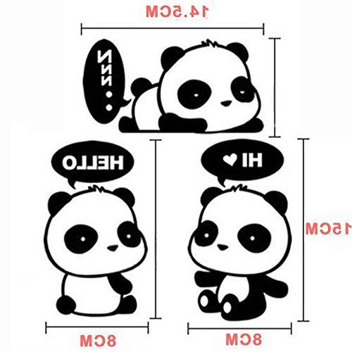 """Cute Sleeping Dreaming Panda,Panda Hi,Panda Air 17"""" Laptop Decal Sticker"""