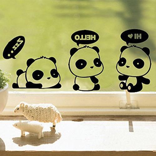 "Cute Dreaming Hi,Panda Air 17"" Laptop Vinyl Decal Sticker 3 Pieces"