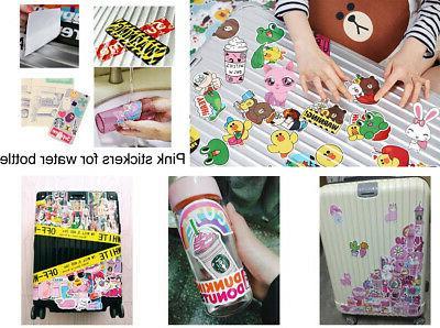 Cute Stickers Water Bottle Girls, Pink Vinyl Decal Laptop