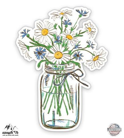 daisies mason jar