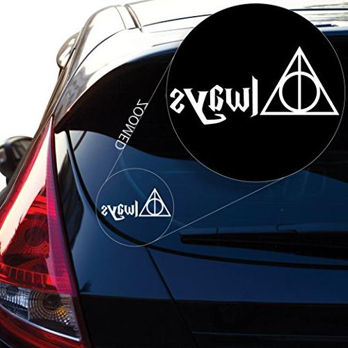 deathly hallows always inspired harry potter decal