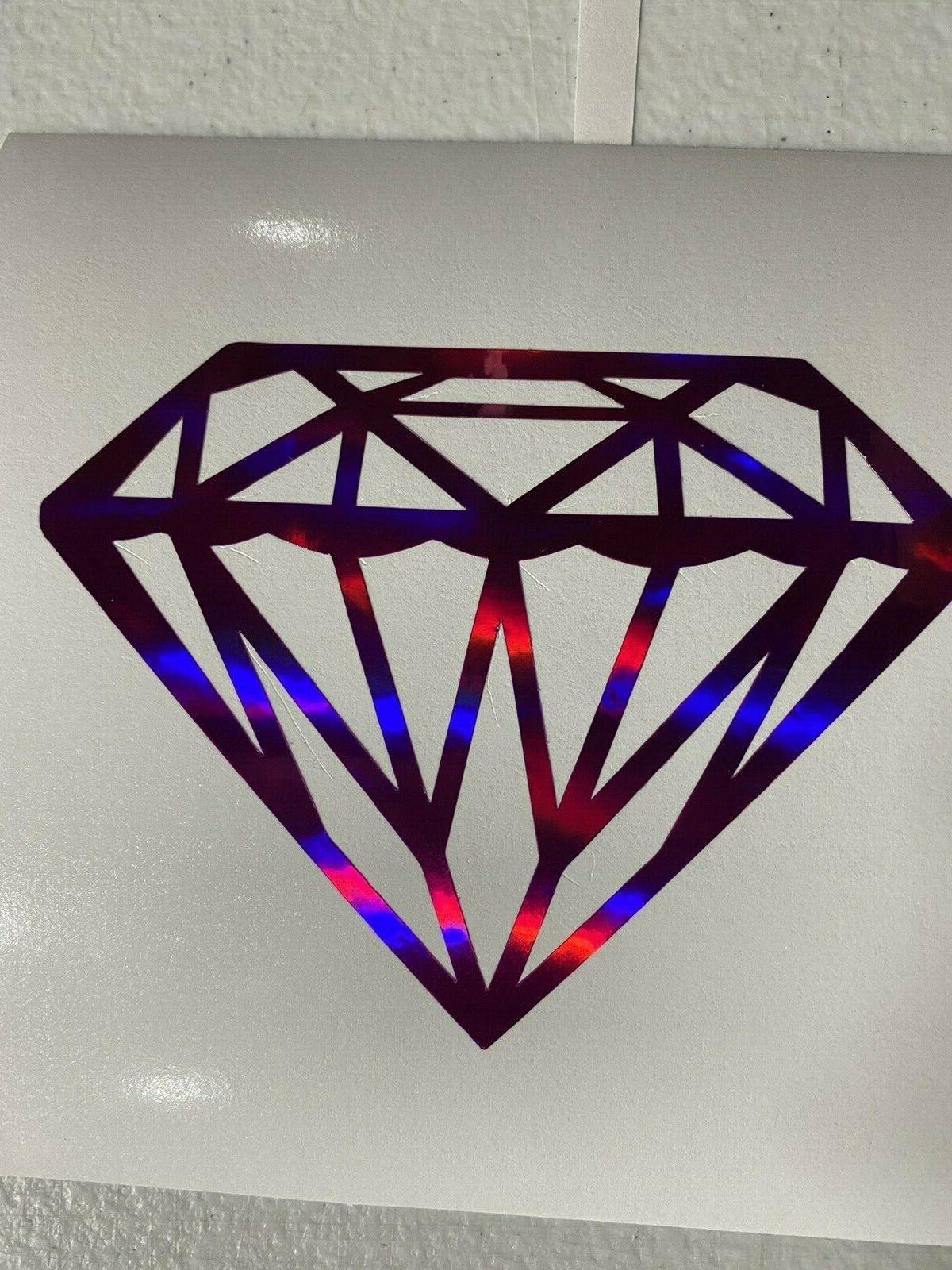 Diamond Vinyl Jewel Sticker Fuchsia Chro