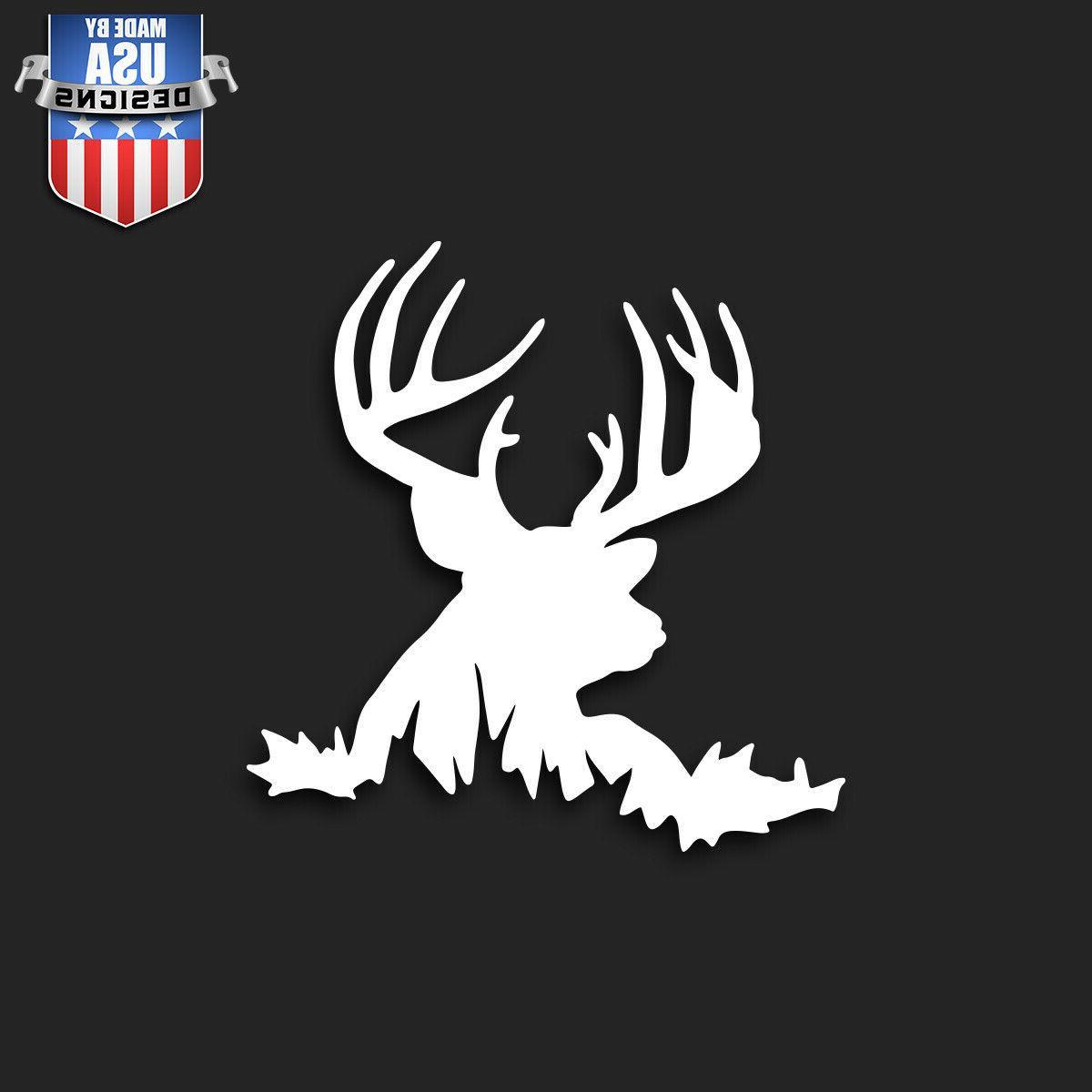 deer buck in brush sticker decal phone